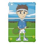 Caso lindo del ipad del muchacho del tenis