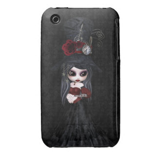 Caso lindo del iPhone 3 del chica del gótico de St Case-Mate iPhone 3 Funda