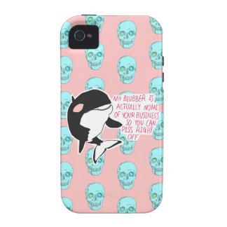 Caso lindo del iPhone 4/4s de la ballena Case-Mate iPhone 4 Carcasas