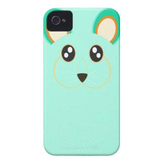 Caso lindo del iPhone 4/4S del conejo de la verde  Case-Mate iPhone 4 Cárcasa