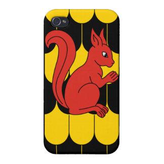 Caso lindo del iPhone 4 de la ardilla iPhone 4/4S Carcasa