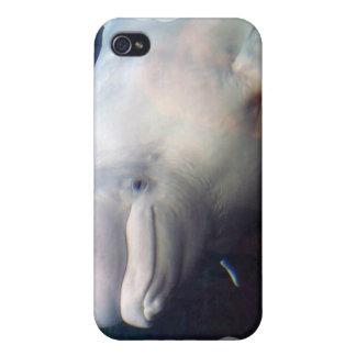 Caso lindo del iPhone 4 de la ballena de la beluga iPhone 4 Carcasa
