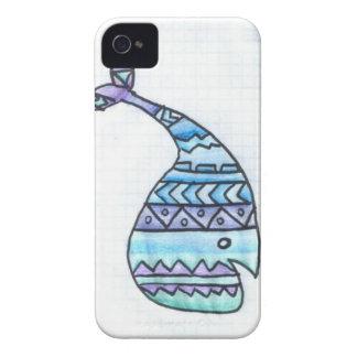 Caso lindo del iPhone 4 de la ballena Case-Mate iPhone 4 Cárcasas