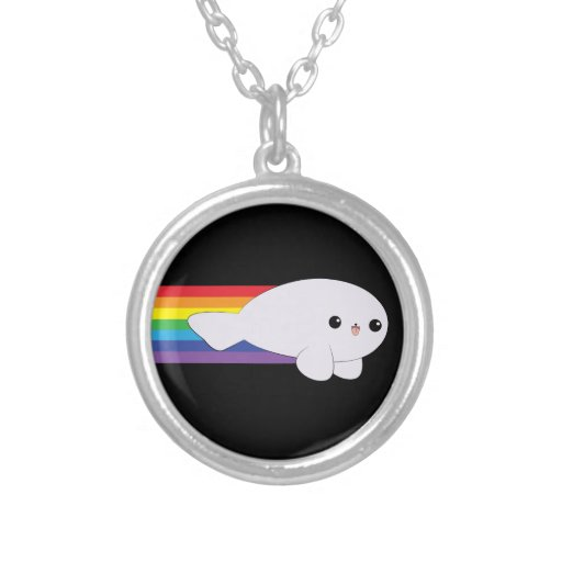 Caso lindo del iPhone 4 de la cría de foca de Colgante Redondo