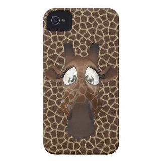 Caso lindo del iPhone 4 de la jirafa del dibujo Case-Mate iPhone 4 Fundas