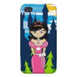 Caso lindo del iphone 4 de la princesa del cuento  iPhone 4/4S carcasas