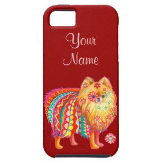 Caso lindo del iPhone 5 de Pomeranian Funda Para iPhone 5 Tough