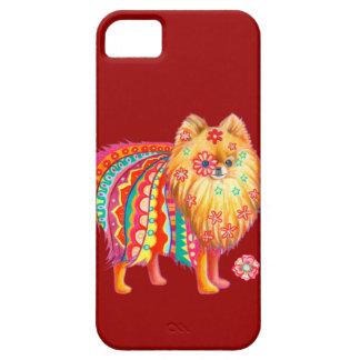 Caso lindo del iPhone 5 de Pomeranian por la Funda Para iPhone 5 Barely There