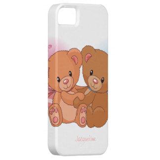Caso lindo del iPhone 5 del abrazo del amor del Funda Para iPhone 5 Barely There