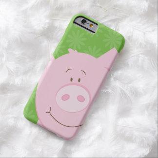 Caso lindo del iPhone 6 de la casamata del cerdo Funda De iPhone 6 Barely There