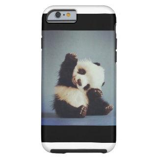 Caso lindo del iPhone 6 de la panda del bebé Funda Resistente iPhone 6