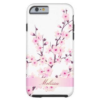 Caso lindo del iPhone 6 de las flores de cerezo Funda Resistente iPhone 6