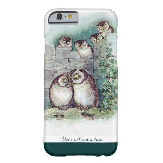 Caso lindo del iPhone 6 del búho de Louis Wain Funda Para iPhone 6 Barely There
