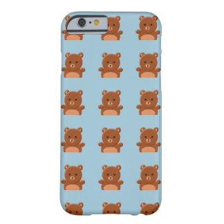 Caso lindo del iphone 6 del oso de peluche funda para iPhone 6 barely there