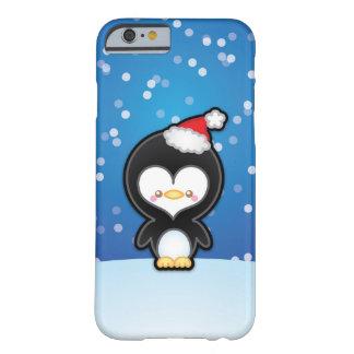Caso lindo del iPhone 6 del pingüino del navidad Funda De iPhone 6 Barely There