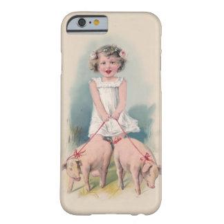 Caso lindo del iPhone 6 del vintage - Gril joven Funda De iPhone 6 Barely There