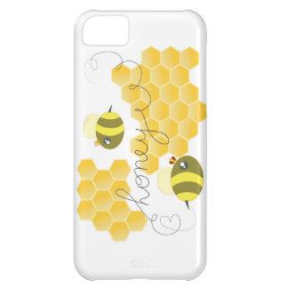 Caso lindo del iphone de la abeja de la miel funda iPhone 5C