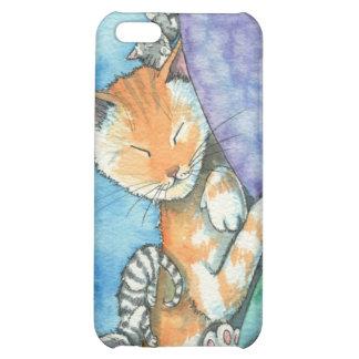 Caso lindo del iPhone de los gatos de Tabby el dor