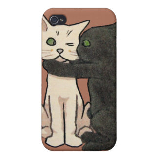 Caso lindo del iPhone de los pares del gato del iPhone 4 Fundas