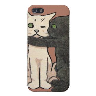 Caso lindo del iPhone de los pares del gato del iPhone 5 Carcasas