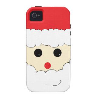 Caso lindo del iPhone de Papá Noel iPhone 4 Carcasa