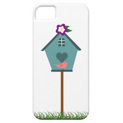 Caso lindo del iPhone del Birdhouse iPhone 5 Carcasa