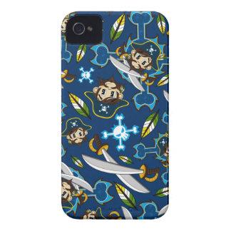 Caso lindo del iphone del capitán del pirata iPhone 4 Case-Mate protector