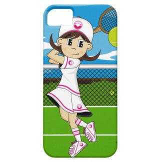 Caso lindo del iphone del chica del tenis iPhone 5 fundas