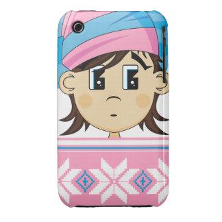 Caso lindo del iphone del duende del navidad Case-Mate iPhone 3 protector