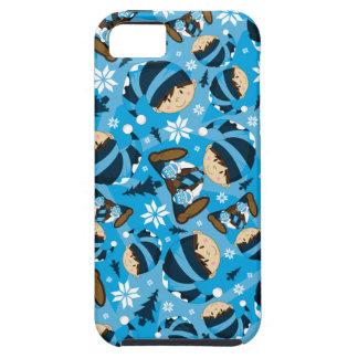 Caso lindo del iphone del duende del navidad iPhone 5 carcasa