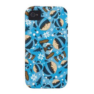 Caso lindo del iphone del duende del navidad iPhone 4/4S carcasas