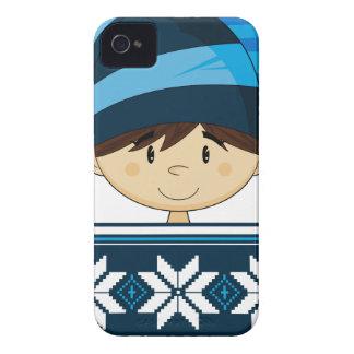 Caso lindo del iphone del duende del navidad iPhone 4 Case-Mate protectores