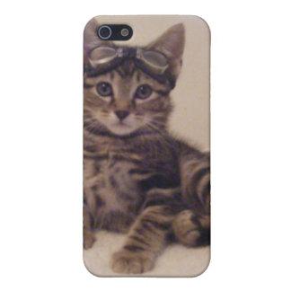 caso lindo del iphone del gatito del tabby iPhone 5 carcasas