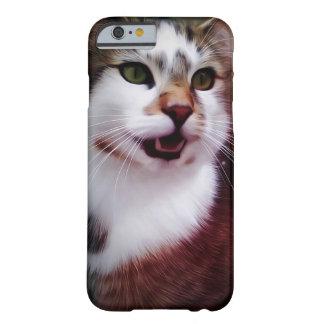 Caso lindo del iPhone del gato Funda De iPhone 6 Barely There