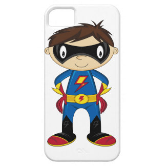 Caso lindo del iphone del muchacho del super héroe iPhone 5 Case-Mate cárcasas