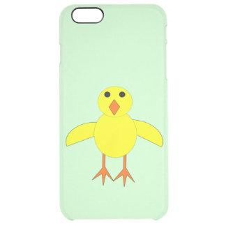 Caso lindo del iPhone del polluelo de Pascua Funda Clear Para iPhone 6 Plus