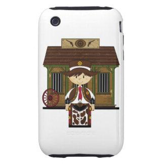 Caso lindo del iphone del vaquero de la cárcel funda though para iPhone 3