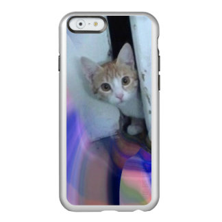 Caso lindo del iPhone Kitty2 Funda Para iPhone 6 Plus Incipio Feather Shine