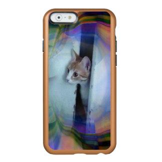 Caso lindo del iPhone Kitty3 Funda Para iPhone 6 Plus Incipio Feather Shine