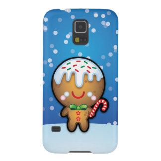 Caso lindo del navidad S5 del hombre de pan de Carcasa Galaxy S5
