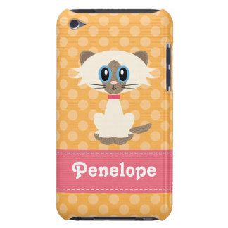 Caso lindo del tacto 4g de iPod del gato siamés iPod Case-Mate Cárcasas