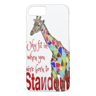 Caso lindo destacado del iPhone 7 de la jirafa Funda iPhone 7