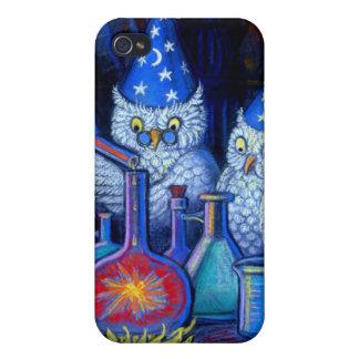 Caso lindo divertido del iPhone 4 de los magos del iPhone 4 Protectores
