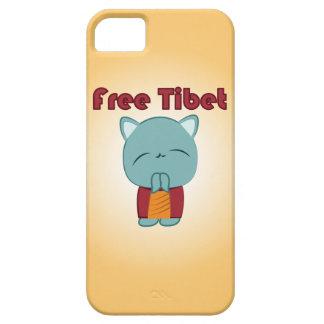 Caso lindo libre del iPhone del gatito de Tíbet iPhone 5 Fundas