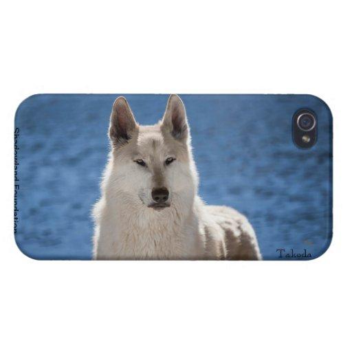 Caso listo del iPhone 4 del caso del lobo iPhone 4/4S Carcasa