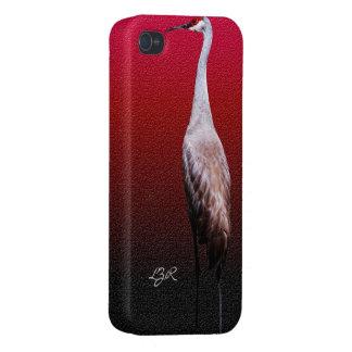 Caso listo del iPhone 4 - grúa de Sandhill en perf iPhone 4/4S Fundas