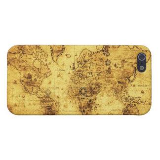 Caso listo del iPhone 5 del mapa de Viejo Mundo de iPhone 5 Funda