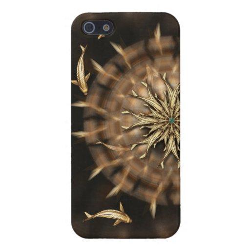 Caso listo del iPhone de la mandala del metal de o iPhone 5 Carcasas