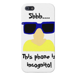 Caso listo del iPhone incógnito 5 del bigote y de  iPhone 5 Cárcasas