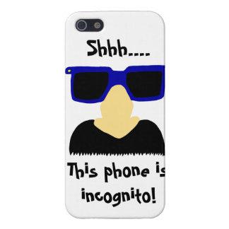Caso listo del iPhone incógnito 5 del bigote y de  iPhone 5 Cobertura